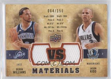 2009-10 Upper Deck VS Dual Materials Gold #VS-DJ - Deron Williams, Jason Kidd /150