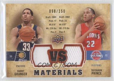 2009-10 Upper Deck VS Dual Materials Gold #VS-PG - Tayshaun Prince, Danny Granger /150