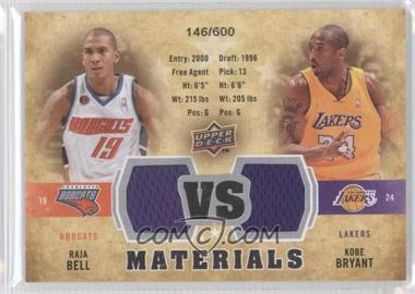 2009-10 Upper Deck VS Dual Materials #VS-BB - Raja Bell, Kobe Bryant /600