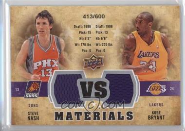 2009-10 Upper Deck VS Dual Materials #VS-BN - Steve Nash, Kobe Bryant /600
