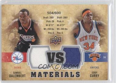 2009-10 Upper Deck VS Dual Materials #VS-CD - Eddy Curry, Samuel Dalembert /600