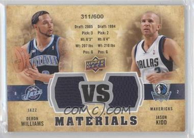 2009-10 Upper Deck VS Dual Materials #VS-DJ - Deron Williams, Jason Kidd