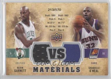 2009-10 Upper Deck VS Dual Materials #VS-GO - Kevin Garnett, Shaquille O'Neal /570