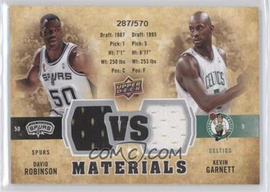 2009-10 Upper Deck VS Dual Materials #VS-GR - Kevin Garnett, David Robinson /570