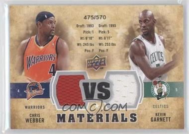 2009-10 Upper Deck VS Dual Materials #VS-GW - Chris Webber, Kevin Garnett