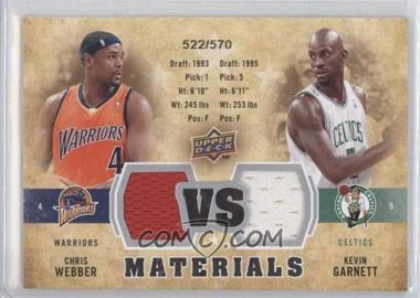 2009-10 Upper Deck VS Dual Materials #VS-GW - Chris Webber, Kevin Garnett /570