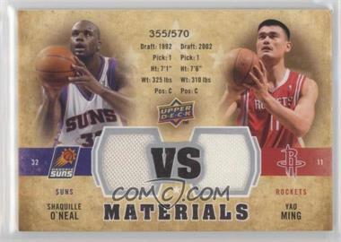 2009-10 Upper Deck VS Dual Materials #VS-MO - Shaquille O'Neal, Yao Ming /570