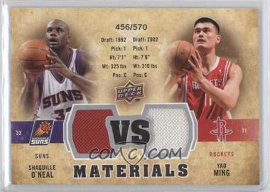 2009-10 Upper Deck VS Dual Materials #VS-MO - Shaquille O'Neal, Yao Ming /570