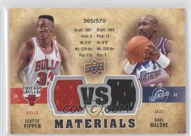 2009-10 Upper Deck VS Dual Materials #VS-MP - Scottie Pippen, Karl Malone /570
