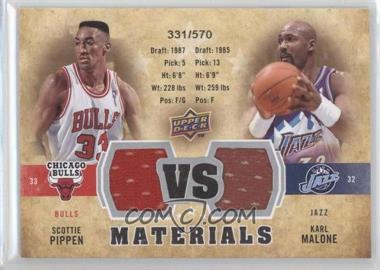 2009-10 Upper Deck VS Dual Materials #VS-MP - Scottie Pippen, Karl Malone /570