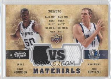 2009-10 Upper Deck VS Dual Materials #VS-NR - Dirk Nowitzki, David Robinson /570