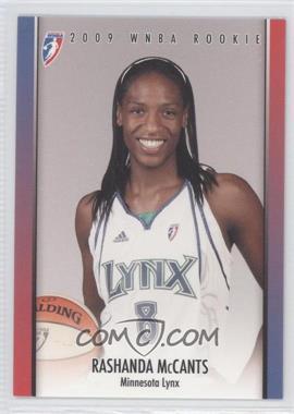 2009 Rittenhouse WNBA Rookies #RC16 - Rashanda McCants /499