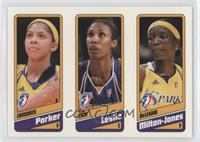 Candace Parker, Lisa Leslie, DeLisha Milton-Jones /399