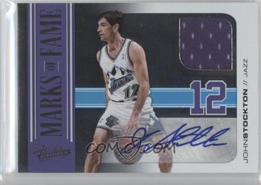 2010-11 Absolute Memorabila Marks of Fame Autograph Materials #2 - John Stockton /10