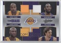 Derek Fisher, Kobe Bryant, Lamar Odom, Pau Gasol /100