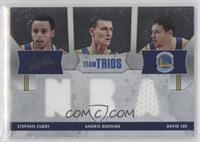 Stephen Curry, Andris Biedrins, David Lee /40