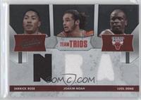 Derrick Rose, Joakim Noah, Luol Deng /100