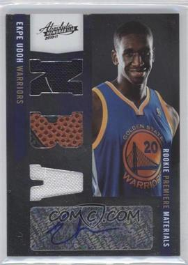 2010-11 Absolute Memorabila #156 - Rookie Premiere Materials NBA Signatures - Ekpe Udoh /499
