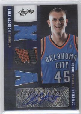 2010-11 Absolute Memorabilia - [Base] #161 - Rookie Premiere Materials NBA Signatures - Cole Aldrich /499