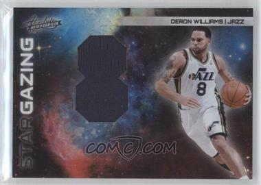 2010-11 Absolute Memorabilia Star Gazing Jersey Number Jumbo Materials #19 - Deron Williams /25