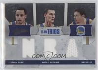 Stephen Curry, Andris Biedrins, David Lee /40