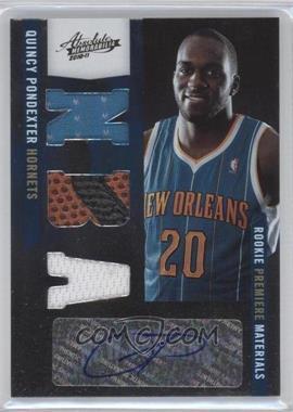 2010-11 Absolute Memorabilia #175 - Rookie Premiere Materials NBA Signatures - Quincy Pondexter /499