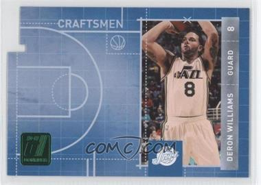 2010-11 Donruss Craftsmen Emerald Die-Cut #10 - Deron Williams