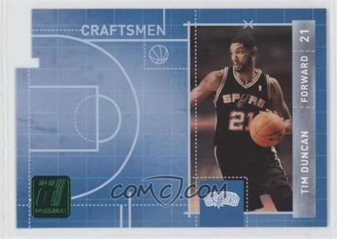 2010-11 Donruss Craftsmen Emerald Die-Cut #15 - Tim Duncan