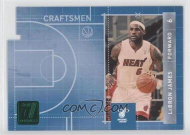 2010-11 Donruss Craftsmen Emerald Die-Cut #3 - Lebron James