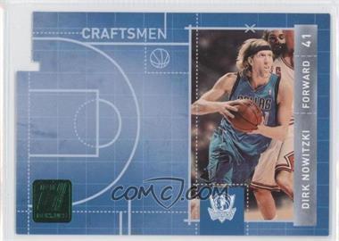 2010-11 Donruss Craftsmen Emerald Die-Cut #7 - Dirk Nowitzki