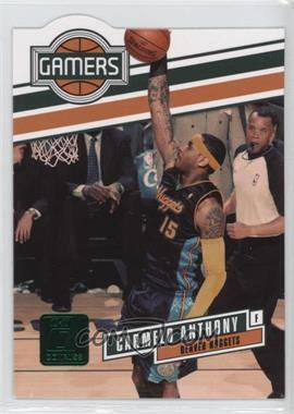 2010-11 Donruss Gamers Emerald Die-Cut #14 - Carmelo Anthony