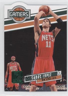 2010-11 Donruss Gamers Emerald Die-Cut #6 - Brook Lopez