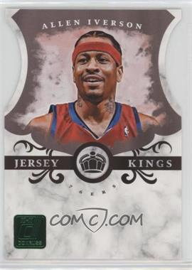 2010-11 Donruss Jersey Kings Emerald Die-Cut #1 - Allen Iverson