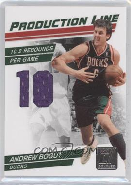 2010-11 Donruss Production Line Die-Cut Stats Materials [Memorabilia] #31 - Andrew Bogut /199