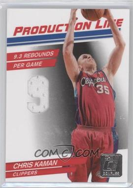 2010-11 Donruss Production Line Die-Cut Stats Materials [Memorabilia] #40 - Chris Kaman /399