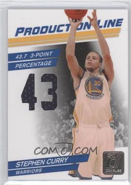 2010-11 Donruss Production Line Die-Cut Stats Materials [Memorabilia] #96 - Stephen Curry /399