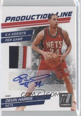 2010-11 Donruss Production Line Materials Prime Signatures [Autographed] [Memorabilia] #50 - Devin Harris /49