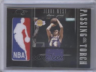 2010-11 Elite Black Box - Passing the Torch - Memorabilia #1 - Jerry West, Kobe Bryant /25