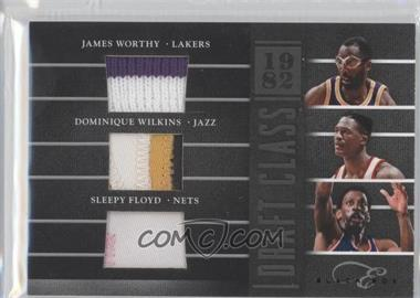 2010-11 Elite Black Box Draft Class Prime Memorabilia #3 - Dominique Wilkins, James Worthy, Sleepy Floyd /99