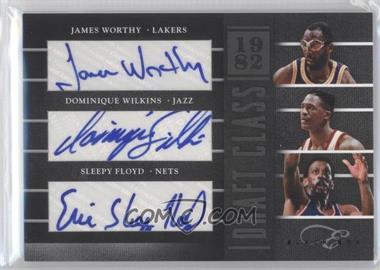 2010-11 Elite Black Box Draft Class Signatures [Autographed] #3 - Dominique Wilkins, Sleepy Floyd, James Worthy /25