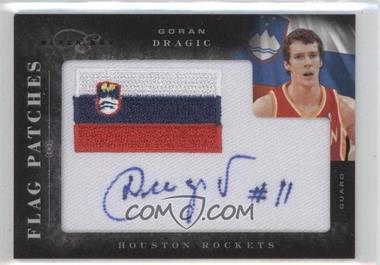 2010-11 Elite Black Box Flag Patches Autographs [Autographed] #25 - Goran Dragic /149