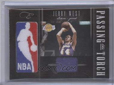 2010-11 Elite Black Box Passing the Torch Memorabilia #1 - Jerry West, Kobe Bryant /25