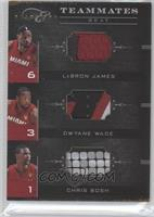 LeBron James, Chris Bosh, Dwyane Wade #32/49