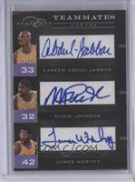 Kareem Abdul-Jabbar, James Worthy, Magic Johnson /10