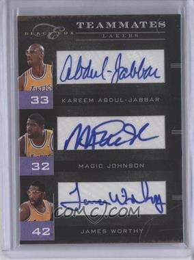 2010-11 Elite Black Box Teammates Signatures [Autographed] #6 - Kareem Abdul-Jabbar, James Worthy, Magic Johnson /10