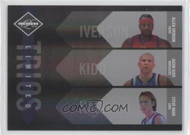 2010-11 Limited - Limited Trios - Spotlight Silver #4 - Allen Iverson, Jason Kidd, Steve Nash /99