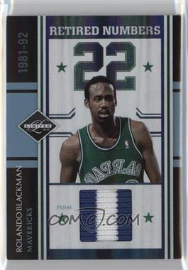 2010-11 Limited - Retired Numbers - Materials Prime #3 - Rolando Blackman /10