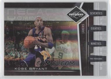 2010-11 Limited Decade Dominance Spotlight Silver #18 - Kobe Bryant /49