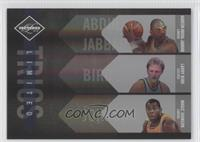 Kareem Abdul-Jabbar, Larry Bird, Marion Jones /99