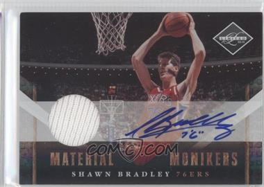 2010-11 Limited Material Monikers [Autographed] #45 - Shawn Bradley /99
